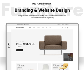 Free Download E-Commerce Website Template For Furniture Shop (UI Kit)