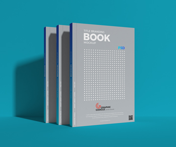 Elegant Book PSD Mockup For Title Free Download (PSD)