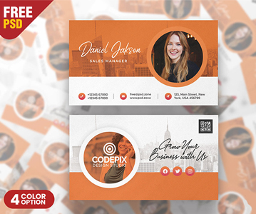 Freebie : Stylish Business Card PSD Template (2020)