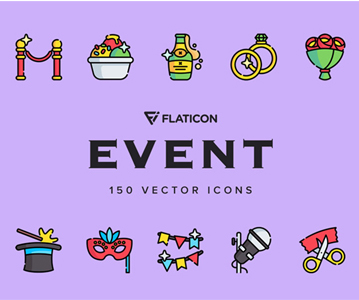 Free Download 50 Awesome Colorful Event Icons (3 Versions)