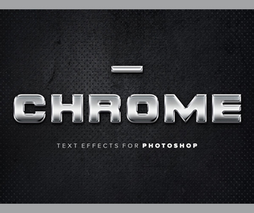 Free Download Awesome Metallic Text Effects (Adobe Photoshop)