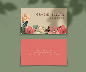 Free Download Simple Branding Business Card PSD Mockup