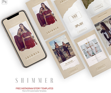 Free 6 Awesome Instagram Story PSD Templates