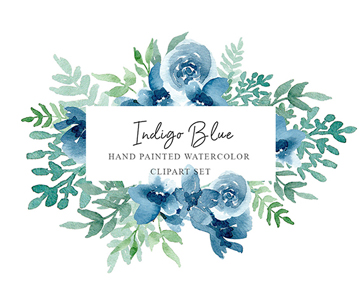Free Hand Painted Flowers Watercolor Set For Designers