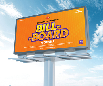 Free Advertising Billboard PSD Mockup