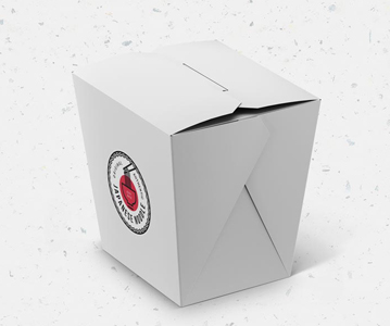 Free Download Stylish Noodles Packing Box Template (PSD)