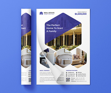 Free Real Estate Business flyer PSD Template Design