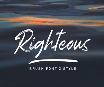 Free Righteous Brush Font For Designers