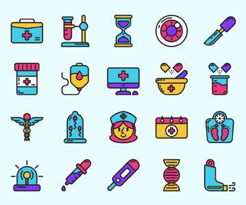 Free 25 Medical Icons (Vector)