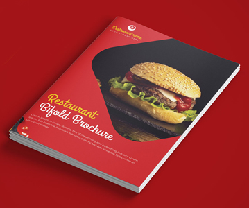 Free Aweosme Bifold Brochure PSD Template For Restaurant