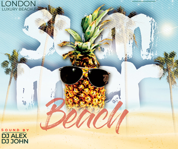 Free Beach Event Flyer PSD Template Design
