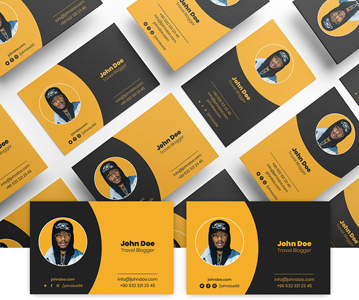 Free Creative Business Card Template Design For Blogger