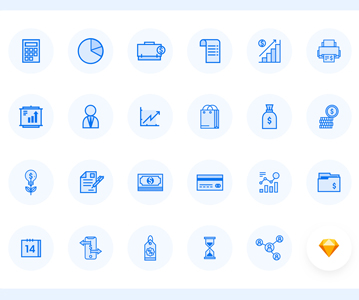 Free Elegant Business Icons For Designers