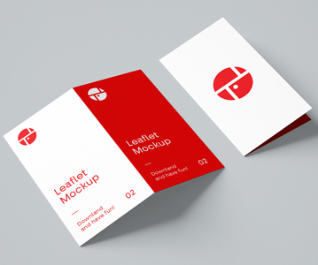 Free Simple Creative Bi-Fold Brochure Mockup (PSD)