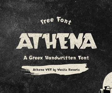 Awesome Stylish Athena Handwritten Free Font
