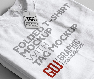 Free Awesome T-Shirt With Tag Mockup