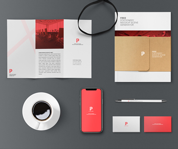 Free Awesome Branding Stationery Mockup (9 Elements)