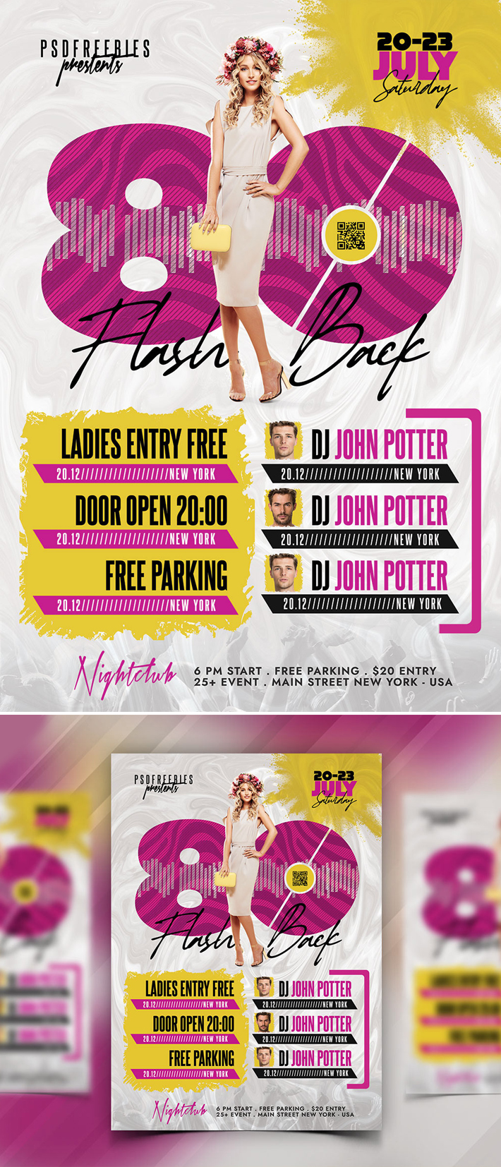 Classic Music Party PSD Flyer Template