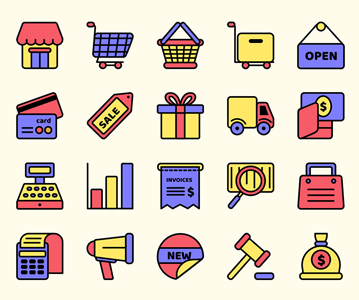 Free Creative E-Commerce Vector Icons