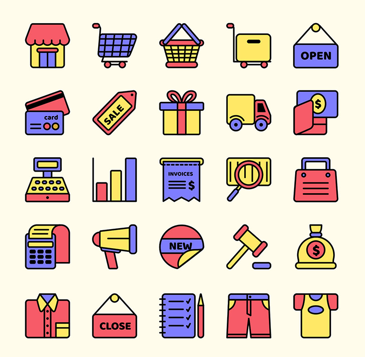 Creative E-Commerce Vector Icons