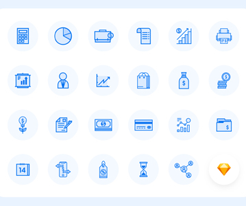 Free Elegant Vector Business Icons