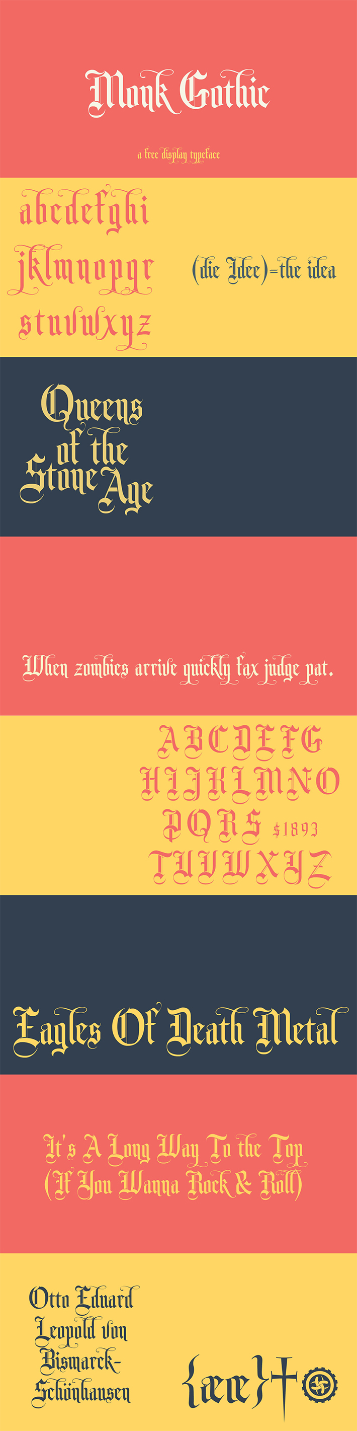 Perfect Monk Gothic Display Font