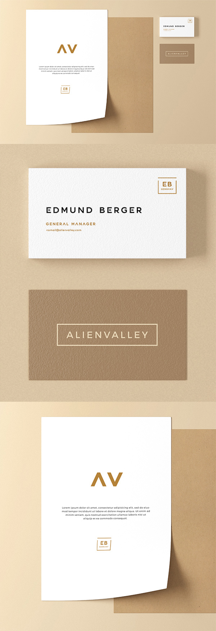 Simple Creative Stationery Mockup