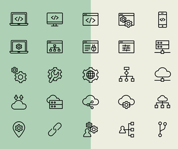 Free 25 Creative Web Development Line Icons (vector Icons)