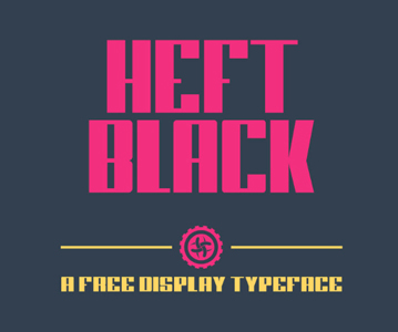 Free Heft Black Display Font For Designers