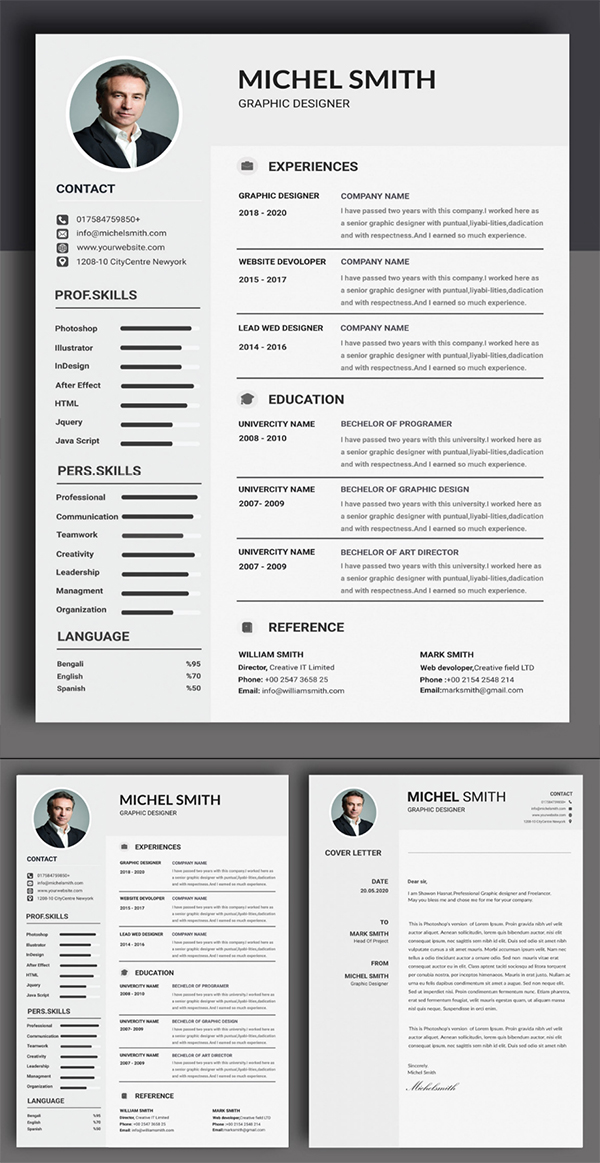 Print Ready Resume / CV With Cover Letter