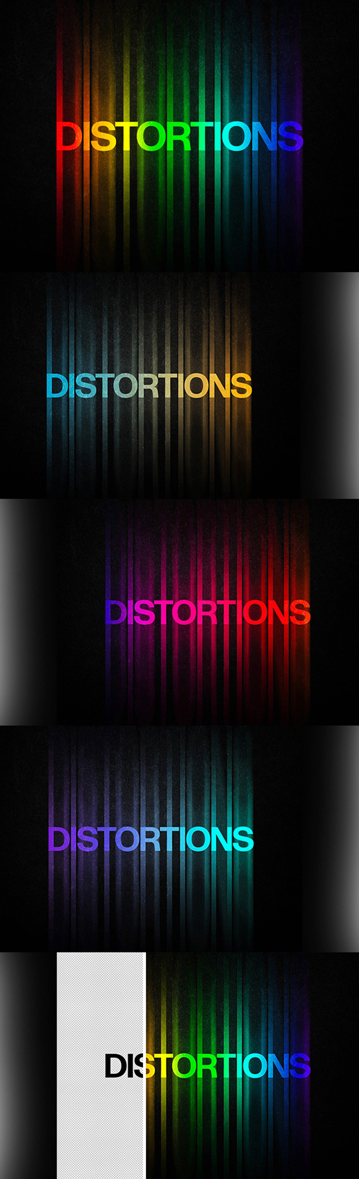 Awesome Color Distortion Text Effect