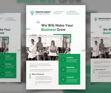 Freebie : Perfect Business Flyer PSD Template (PSD)