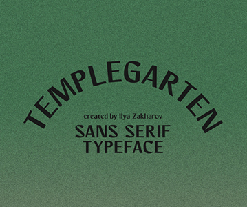 Free Awesome Vintage Templegarten Font (2020)