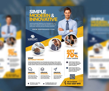 Free Elegant Business Flyer PSD Template (2020)