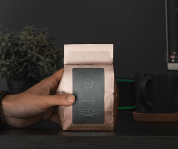Free Elegant Coffee Packaging Bag PSD Mockup