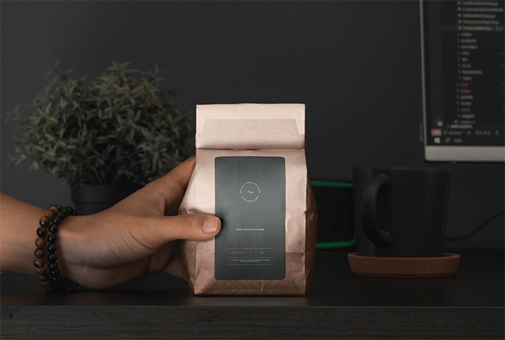 Elegant Coffee Packaging Bag