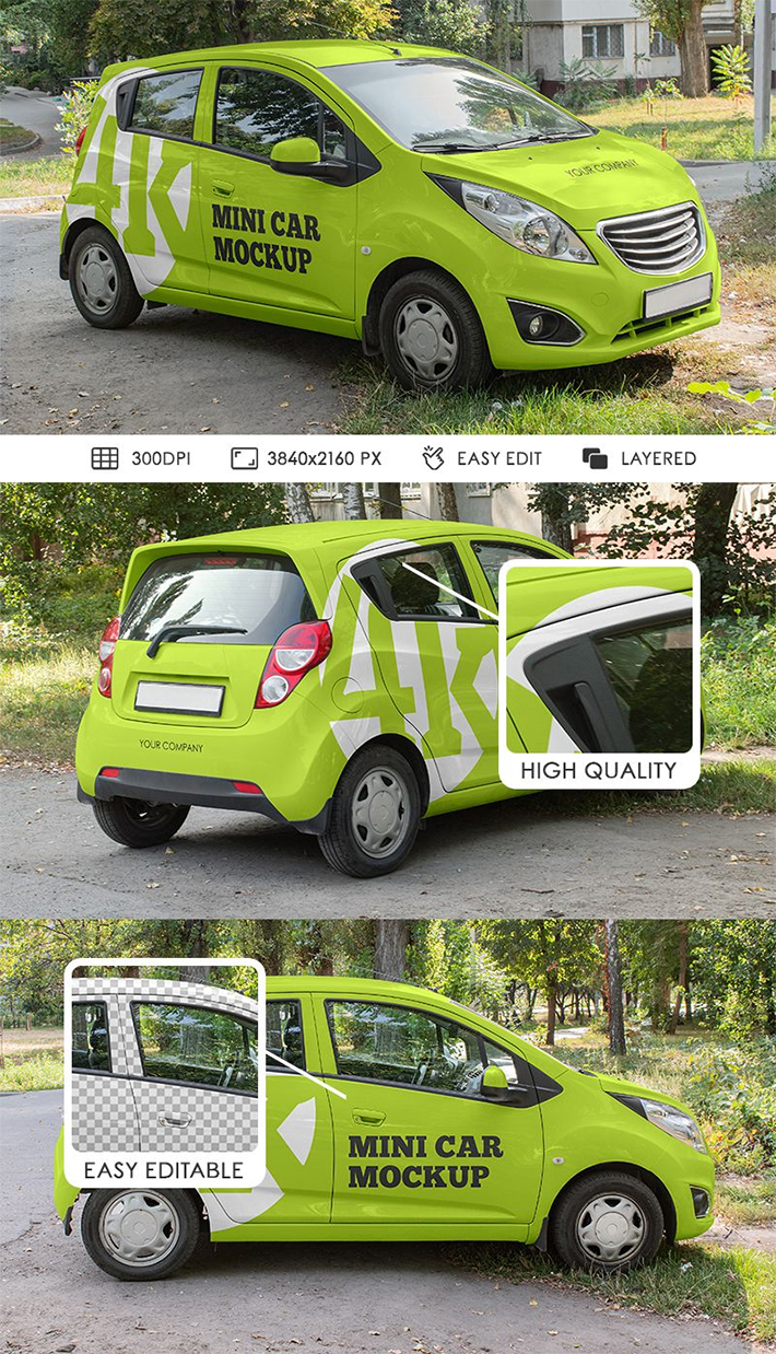 Awesome Car Mockups For Advertisement