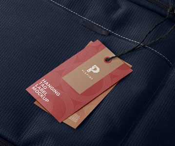 Awesome Branding Paper Tags Hanging Mockup Free Download