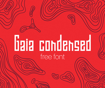 Free Awesome Gaia Condensed Display Font For Designers