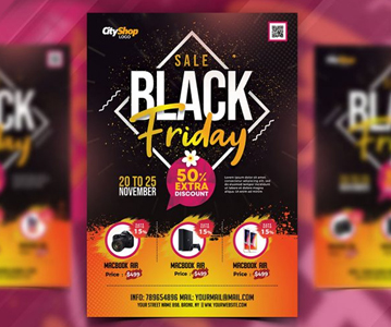 Free Attractive Sale Flyer Template Design (PSD)