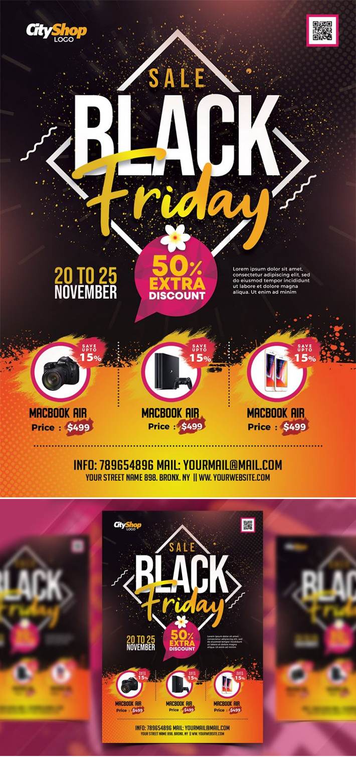 Attractive Sale Flyer Template Design