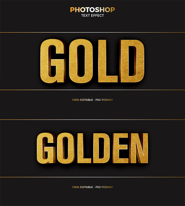 Attractive Gold Foil Text Effect