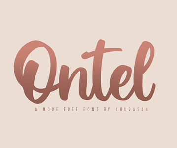 Free Stylish Ontel Script Font For Designers