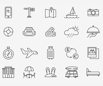Free Useful Travel Line Icon Set (2020)