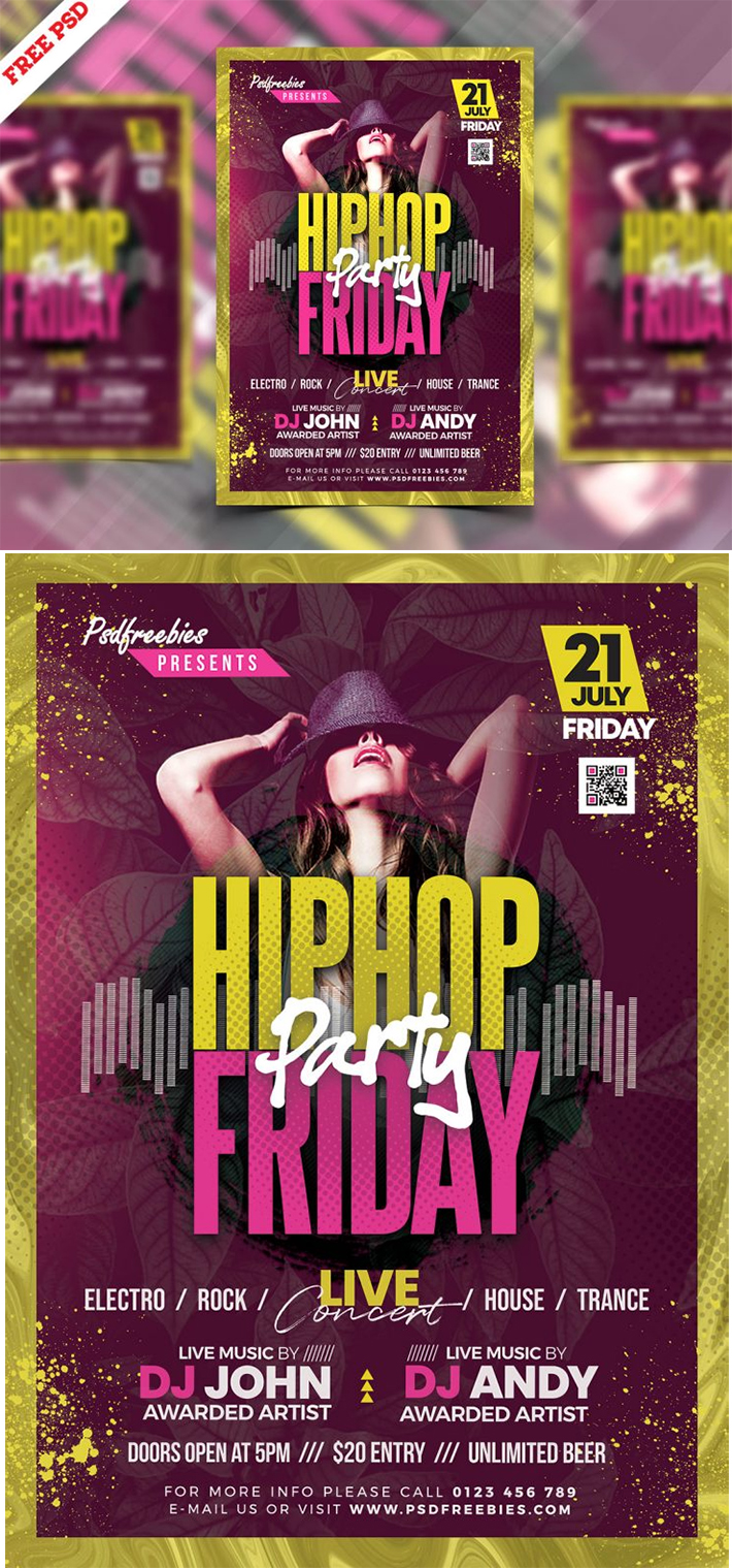 Attractive Stylish Friday Party Flyer