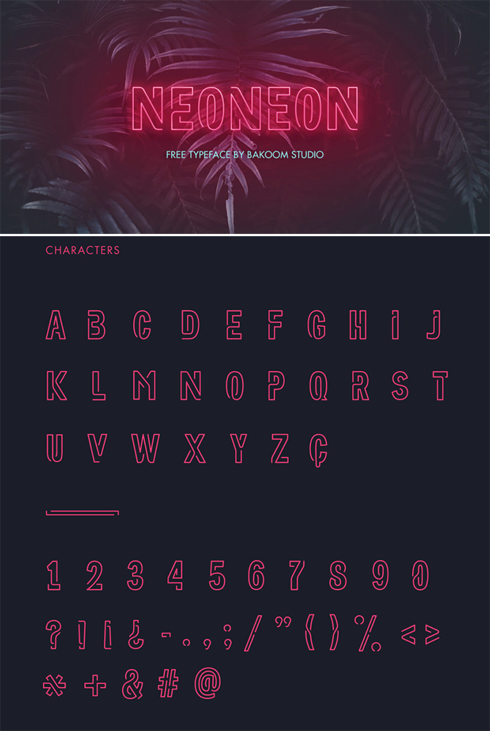 Attractive Neon Display Free Font