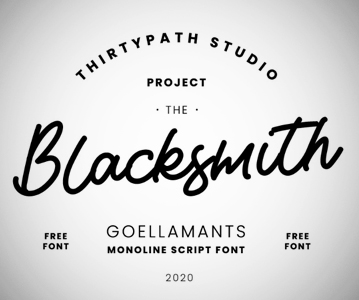 Free Awesome Creative Goellamants Script Font For Designers