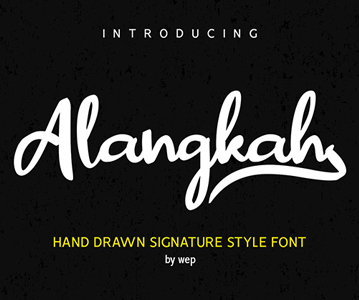Free Awesome Hand Drawn Signature Font For Designers