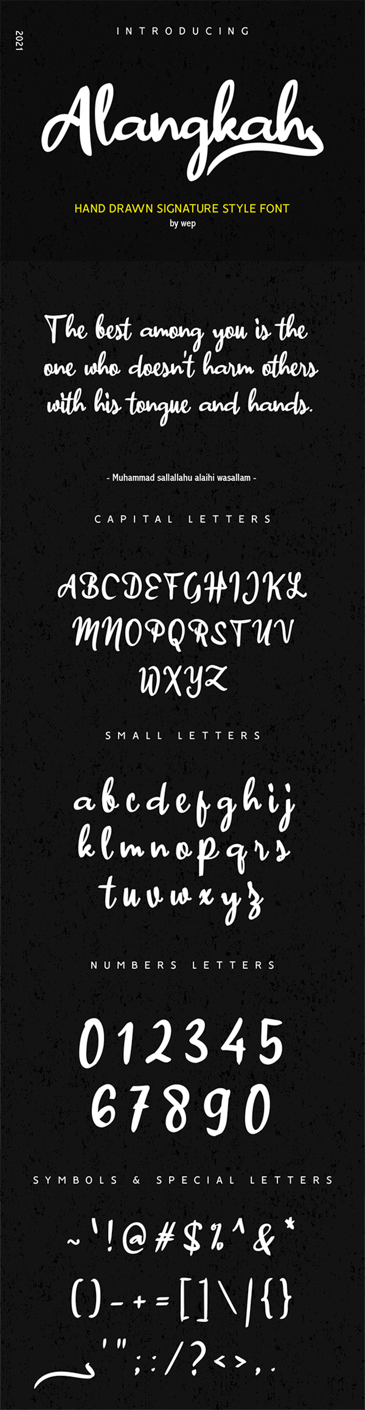 Awesome Hand Drawn Signature Free Font