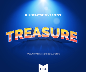 Free Awesome Illustrator Text Effect For Designers